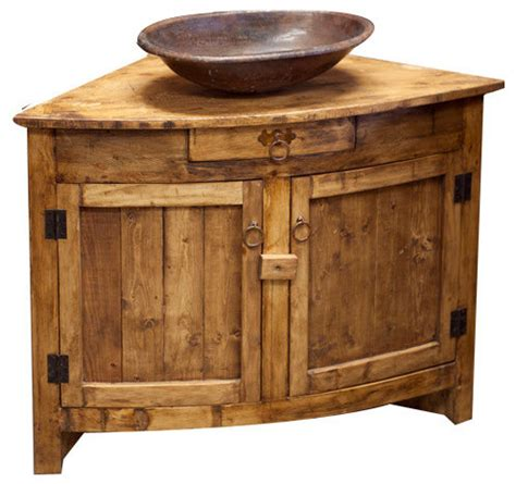 Cottage Dining Room Furniture Corner Vanity Rustic Bathroom Vanities And Sink