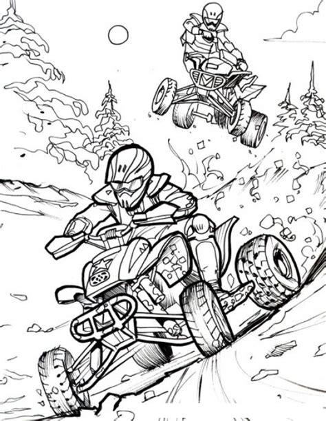pintar im genes todo para colorear motos atv dibujo de una competencia de motos atv todo