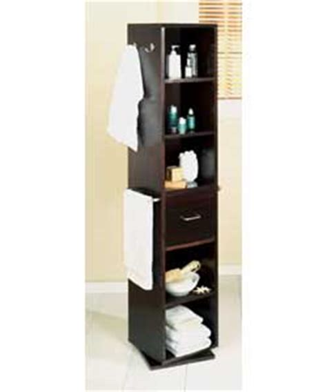 seattle revolving bathroom storage unit wood