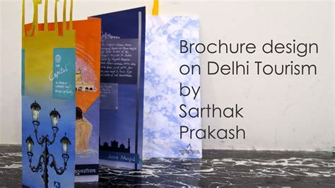 How To Make A Brochure Handmade - handmade brochure design by sarthak prakash