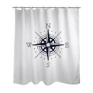 shower curtain nautical shower curtain choose your color nautical compass modern