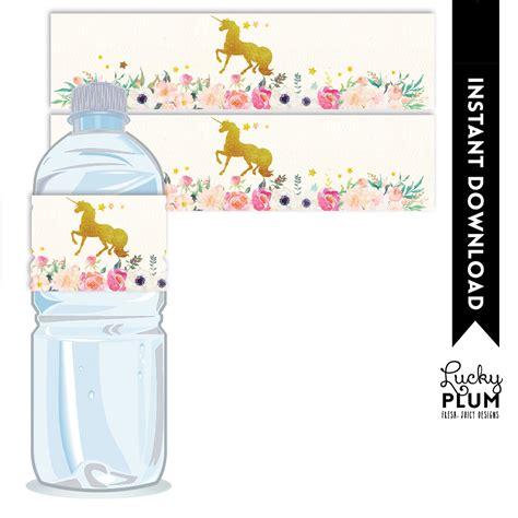 printable unicorn water bottle labels unicorn water bottle label horse water bottle label my