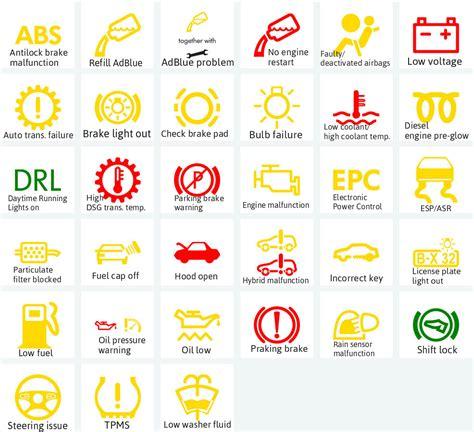 ford focus dashboard warning lights symbols car dashboard