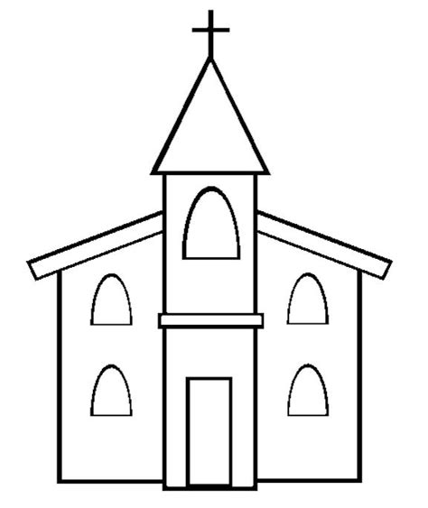 church template church coloring page bible school crafts vacation bible