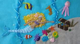 The Little Store Of Home Decor Mermaid Felt Embroidery Art Piece Imagine Our Life
