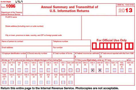 1096 template word individual tax form free premium templates