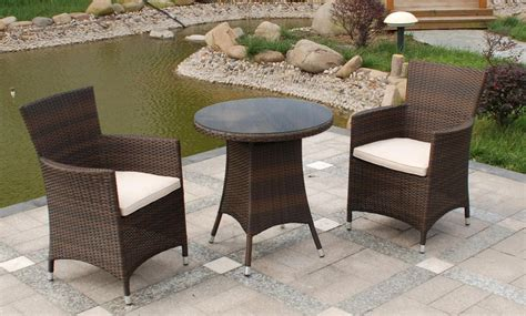 rattan garden sofas royalcraft cannes 2 seater bistro set mocha brown