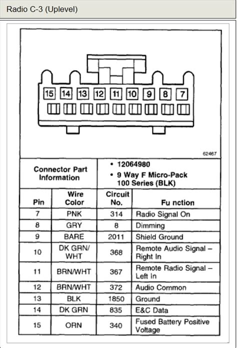 2001 chevy impala radio wiring diagram wiring diagram