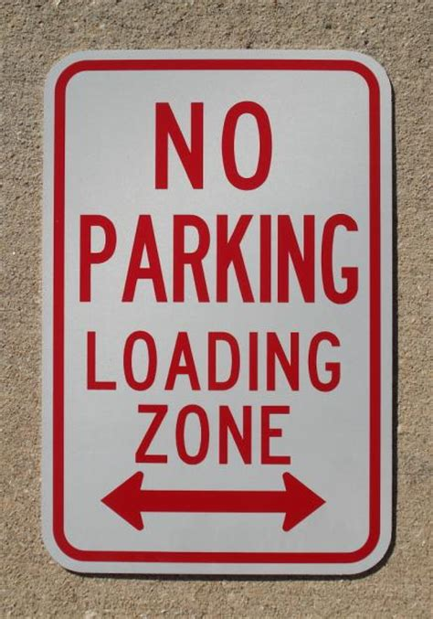 background zone loading no parking loading zone signs
