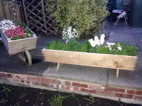 Pallet Planters For Sale by Wooden Pallet Wheelbarrow Planter