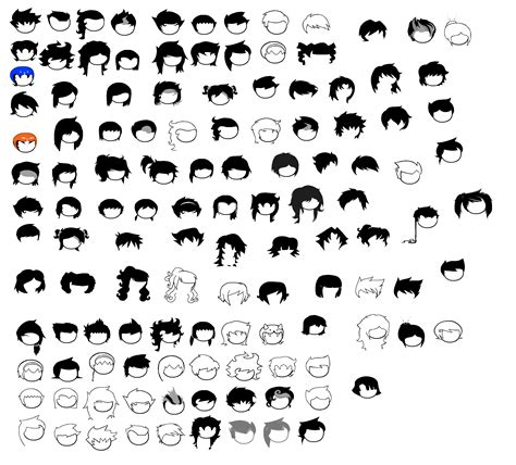sprite template homestuck hair sprite sheet by blahjerry on deviantart