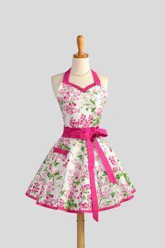 Celemek Apron Pattern retro apron aprons and floral fabric on