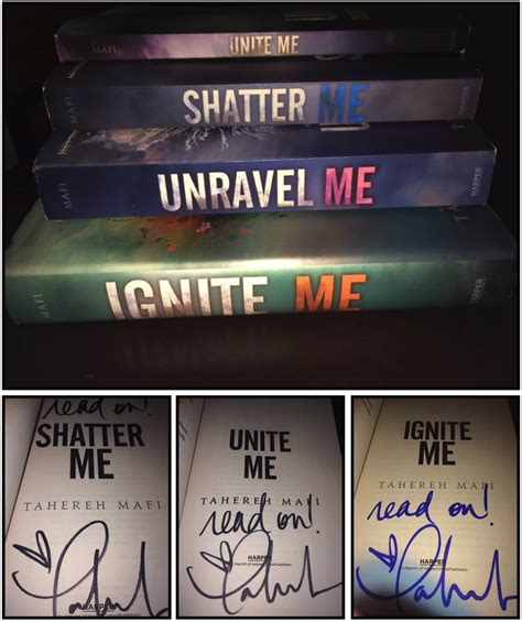 Me Me Me Signed - blogaversary kick off win the entire shatter me series