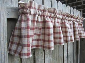 Country Plaid Kitchen Curtains Farmhouse Plaid Country Cabin Kitchen Window Curtain By Homestyled