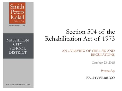 Section 504 Requirements by Kathy S Section 504 Power Point