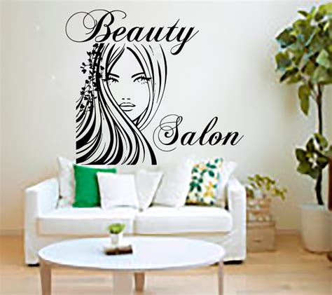 beautiful wall stickers for room interior design aliexpress com buy beauty salon wall stickers decal