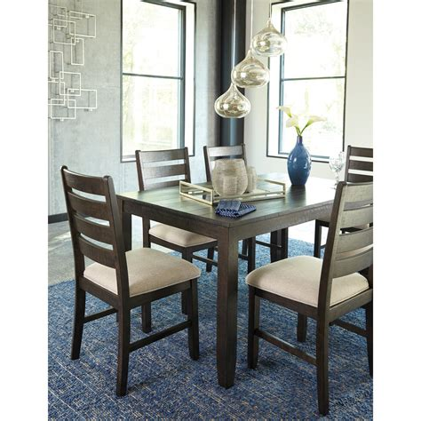 contemporary 7 dining room table set by signature