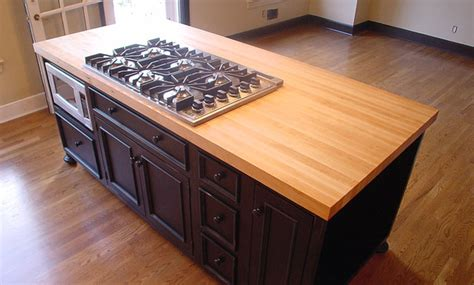 wood tops for kitchen islands maple wood kitchen island countertop by grothouse