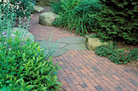 how to your to lay garden attractive brick walkway for garden decoration with green trees and
