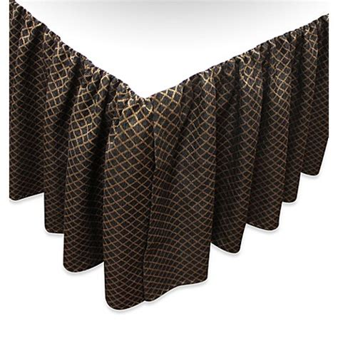 gold bed skirt buy austin horn classics verona king bed skirt in black gold from bed bath beyond
