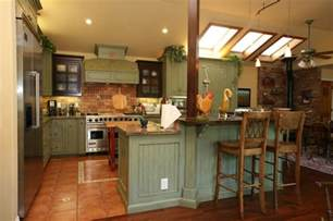 Country Farmhouse Kitchen Designs by Country Green Kitchen Farmhouse Kitchen Other Metro