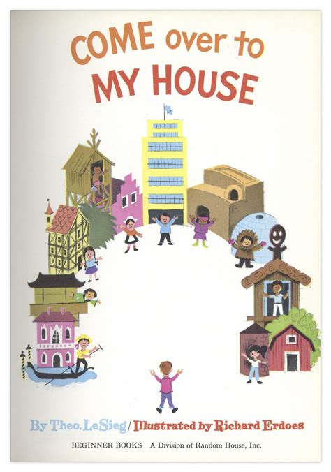 come to my house lot detail dr seuss come over to my house first edition first printing