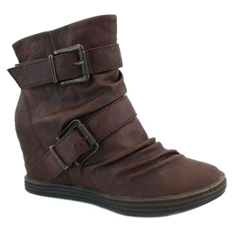 New Stok Wedges T 1 3 8 Bagus blowfish tugo womens zip faux leather wedge ankle boots