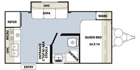 Bullet Travel Trailer Floor Plans by 2011 Forest River Flagstaff Micro Lite Xlt 18rk Trailer