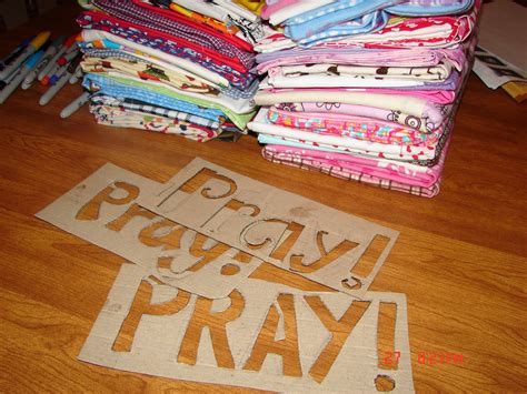 prayer pillowcases  girl   glue gun