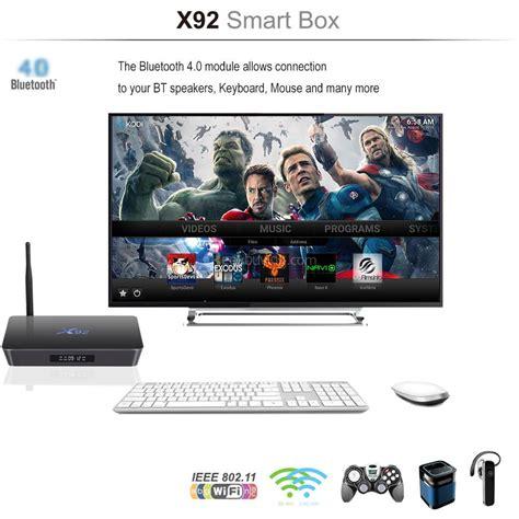 Android Tv Box X92 Os 60 Amlogic S912 Octa Ram 2gb Rom 16gb x92 amlogic s912 android 6 0 3g 32g 4k 60fps tv box