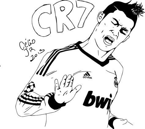 dessin de foot de ronaldo coloriage joueur de foot griezmann free coloriage en