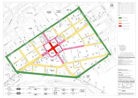 downtown cleveland map maps of stop traffic changes during square