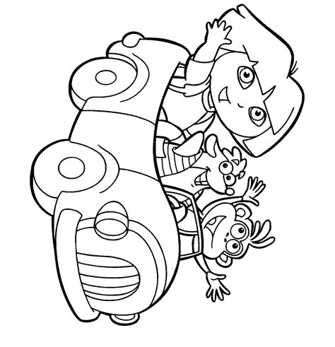 Dora Halloween Coloring Pages Bestofcoloring Com Printable Color Page