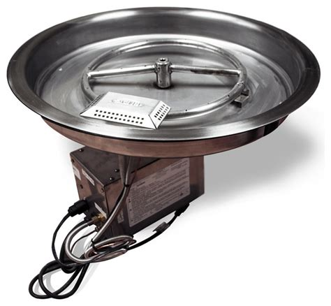 19 Quot Round Electronic Fire Pit Insert 12 Quot Round Burner 24 Gas Pit Insert