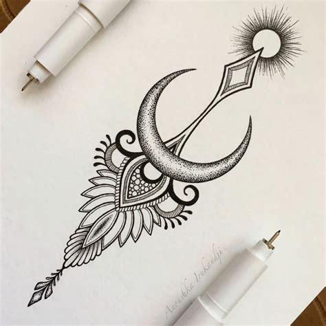 moon mandala tattoo best 25 moon mandala ideas on
