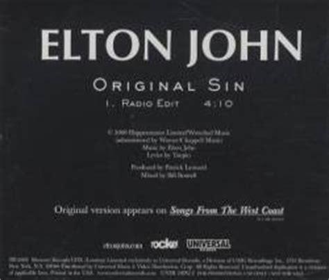 elton john original sin elton john original sin single spirit of rock webzine de