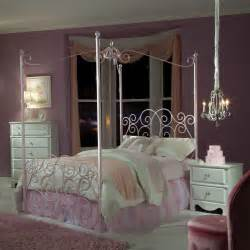 Canopy Bedroom Sets Standard Furniture Princess 3 Canopy Bedroom Set In Pink Metal Beyond Stores