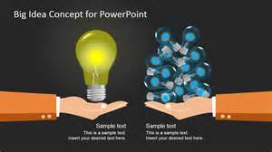 big idea concept design for powerpoint slidemodel