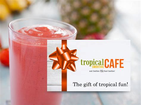 Tropical Smoothie Gift Card - win a 100 tropical smoothie caf 233 gift card woman s world
