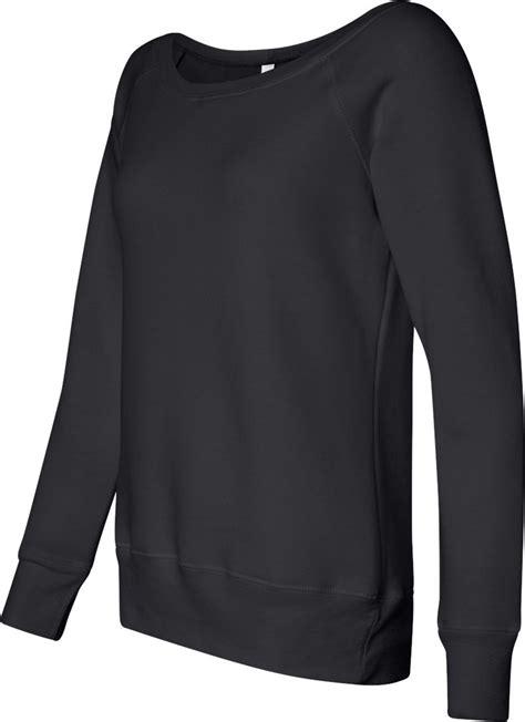 Slouchy Sweatshirt triblend sponge fleece slouchy wideneck