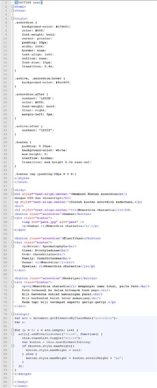 membuat json dengan javascript membuat konten accordion dengan css dan javascript asal usil