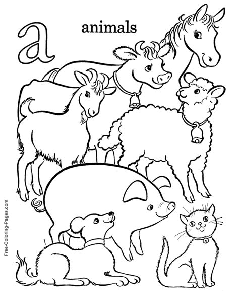 coloring pages of animals in the alphabet coloring book pages a is for animals