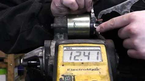 bench testing a starter motor how to bench test starter motor youtube