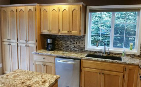 how to clean kitchen cabinets before painting sound finish cabinet painting refinishing seattle