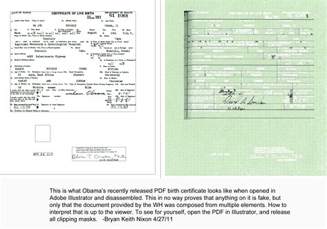 obama produced another forged birth certificate we the