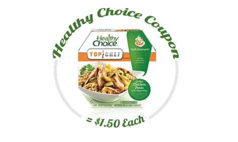 healthy food printable coupons healthy choice coupon cafe steamers for 1 50