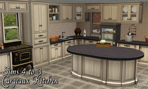 French Country Kitchen Cabinets by Cargeaux Kitchen Conversion By Sandy Teh Sims