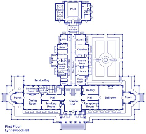 Lynnewood Hall Floor Plan | lynnewood hall first floor by viktorkrum77 on deviantart