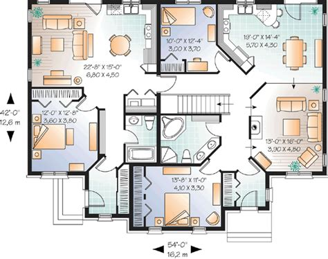House Plans With Inlaw Apartment Traditional Style House Plans 2005 Square Foot Home 1