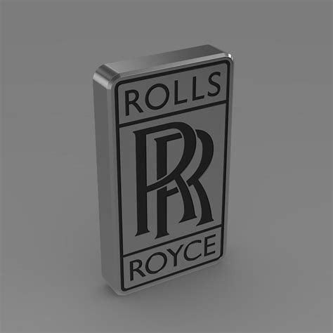 rolls royce logo vector rolls royce logo 3d model buy rolls royce logo 3d model
